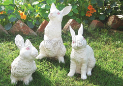 Garden Sculptures - Rabbit 3 Pcs Set - S18