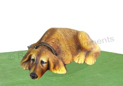 Garden Sculptures - Sleeping Dog - S03